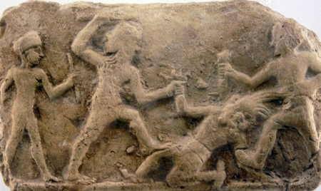 Gilgamesh and Enkidu kill Humbaba