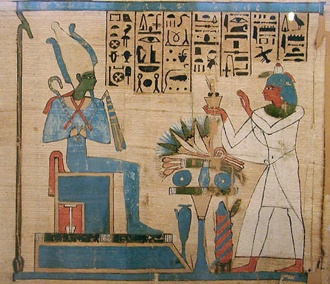 a scene from the Egyptian Book of the Dead