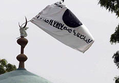 Boko Haram flag tied to mosque